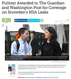 Pulitzer-priset-Snowden