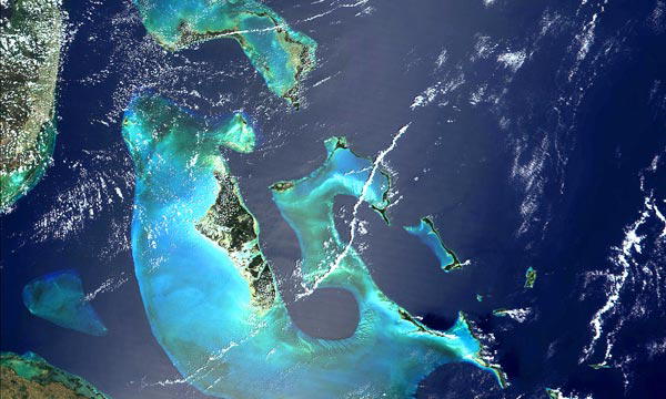 Bahamas from satellite