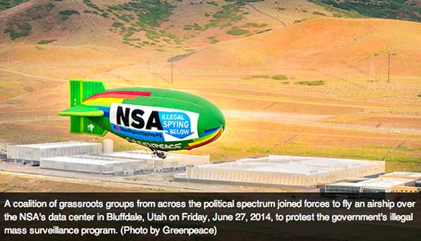 Utah Bluffdale NSA Greenpeace