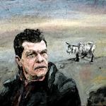 Målning föreställande Christer Pettersson (photoshoppad)