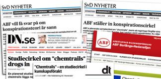Medial upphetsning kring studiecirkel om chemtrails på ABF Borlänge