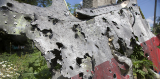 Flight MH17 bullet holes