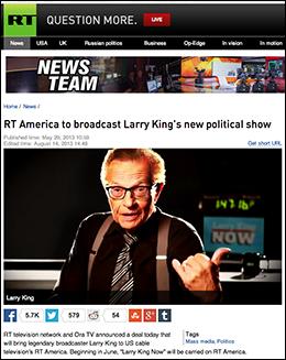 Larry King RT.com