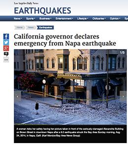 Napa California 6.1 Earthquake 2014