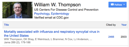 William Thompson - CDC whistleblower