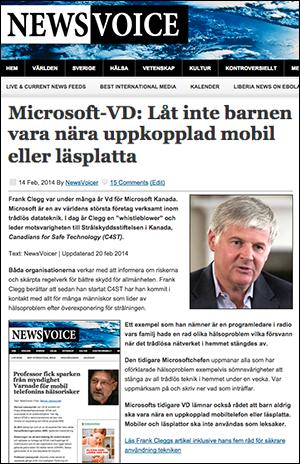Fd Microsoft VD varnar för risker med barn som använder surfplatta