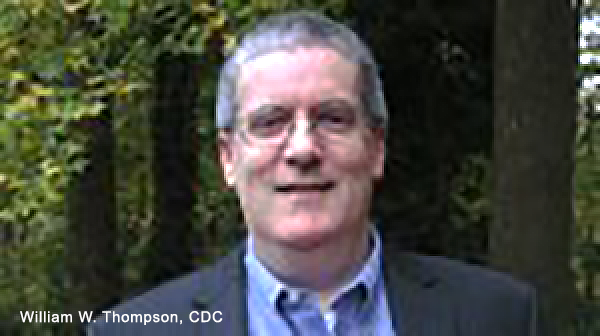 William W Thompson - CDC - Photo: Scholar.google.com