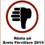 Årets Förvillare 2014