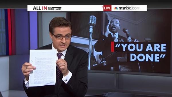 FBI letter to Martin Luther King. Skärmdump: MSNBC