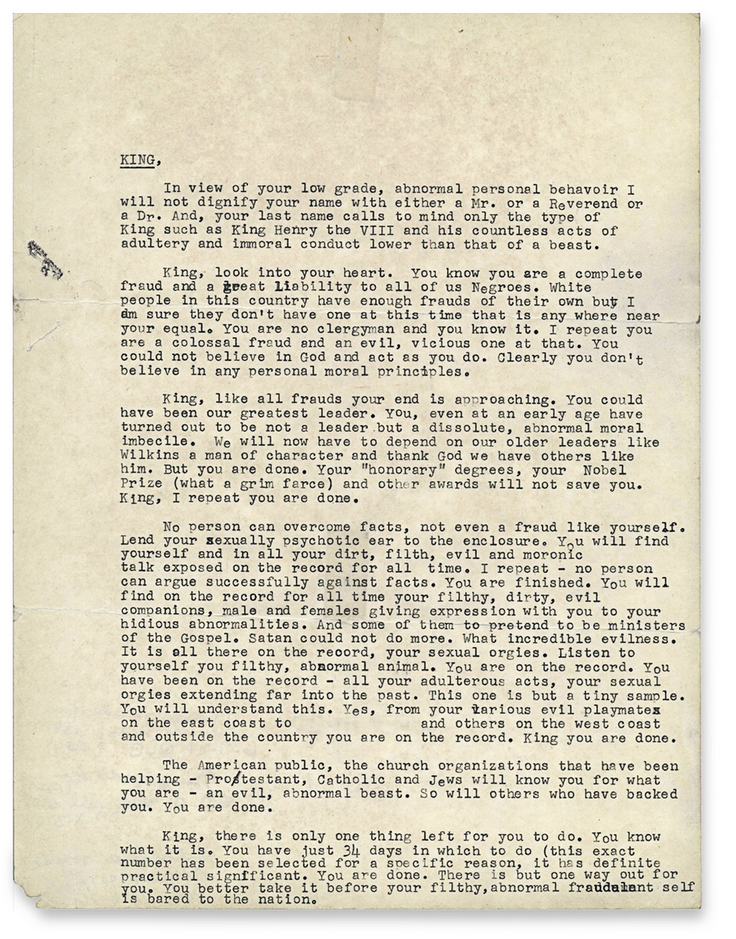 FBI letter to Martin Luther King ORIGINAL
