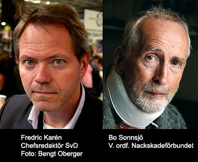 Fredrik Karén (foto: Bengt Oberger, Wikimedia Commons) och Bo Sonnsjö