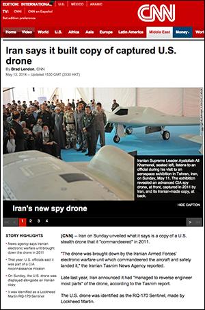 Iran snodde USAs dronare
