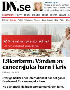 Barncancervård i Sverige
