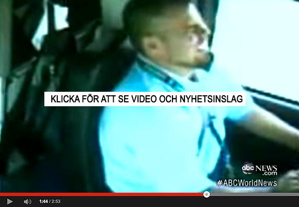 Bussförare krashar pga textning/sms:ar vid körning