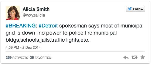 Detroit lamslaget 2 dec 2014