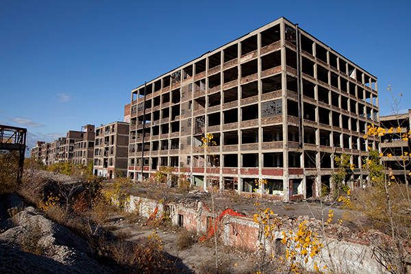Detroits övergivna fabrikslokaler - Foto: Albert Duce Wikimedia Commons