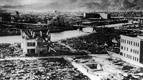 Hiroshima after nuclear bomb
