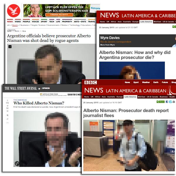 Alberto Nisman i media. Pressklipp