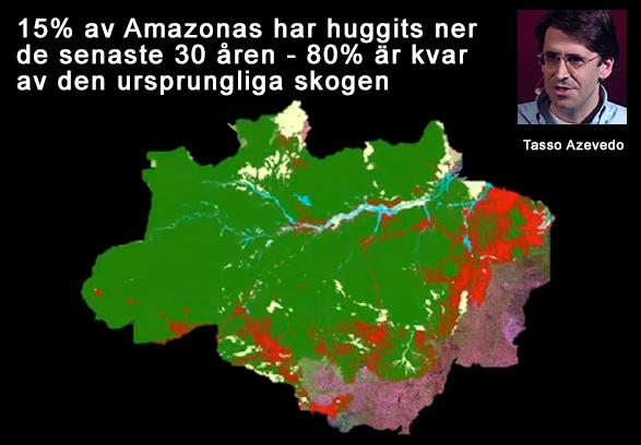 Amazonas - 15 procent huggits ner tom 2014
