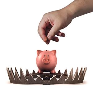 Bank sparande spargris Crestock.com