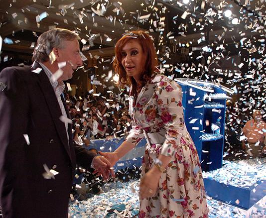 Christina Fernández de Kirchner och hennes make
