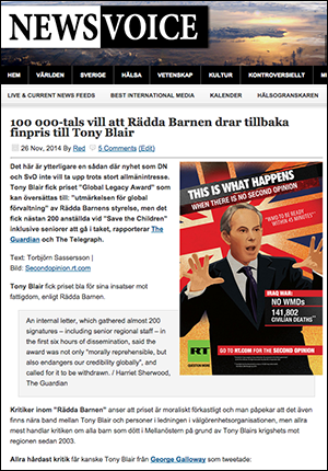 Tony Blair - Rädda Barnen