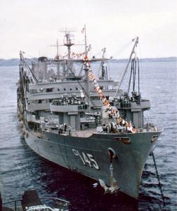 USS Hassayampa 1957 Photo: Donald J. Wagner