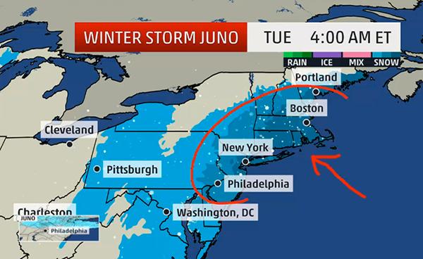 Vinterstorm Juno USA 27 Jan 2015