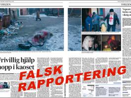 Anna-Lena Laurén rapporterar falskt om Ukraina, 2015