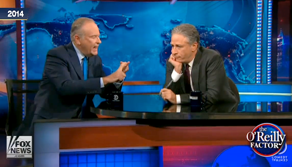Bill O'Reilly tjafsar med Jon Stewart