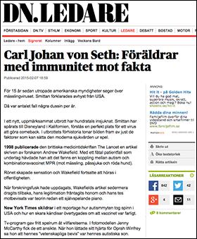 Svar till Carl Johan von Seth om vaccin