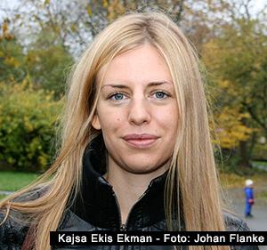 Kajsa Ekis Ekman - Foto: Johan Flanke