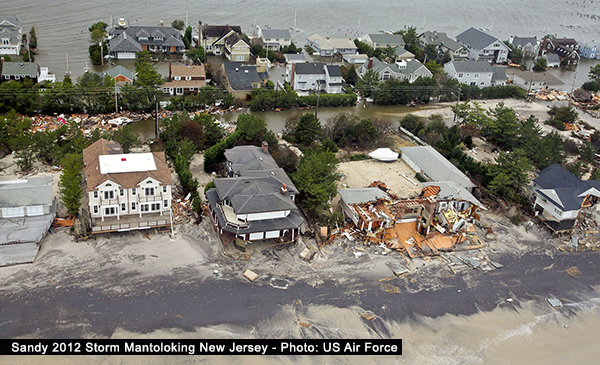 Sandy 2012 Storm Mantoloking New Jersey Photo US Air Force
