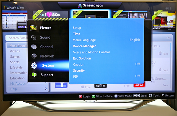 samsung voice smart TV