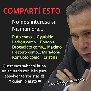 Indignados svar Nisman
