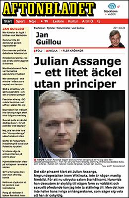 Jan Guillou Julian Assange