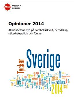 MSB Opinion 2014 beredskap