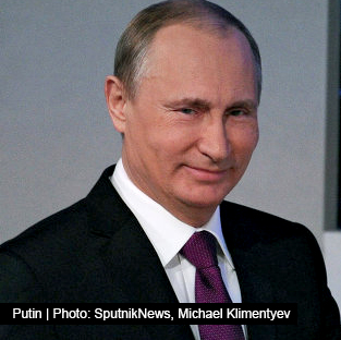 Putin - Photo: SputnikNews,   Michael Klimentyev