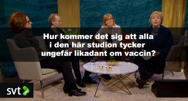 SVT:s provaccinpanel, 2 mars 2015- Foto: SVT.se
