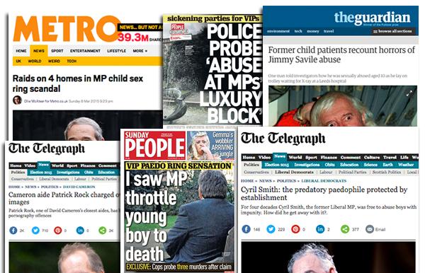 Sexringar och pedofiler i Storbritannien och parlamentet