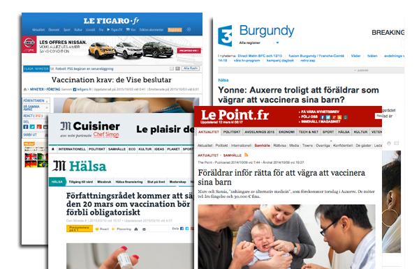 Tvångsvaccinering i Frankrike 20 mars 2015