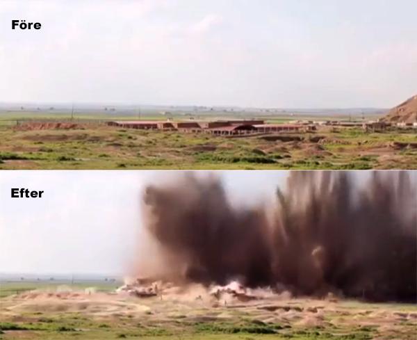 IS och USA Irak Nimrud Syrien