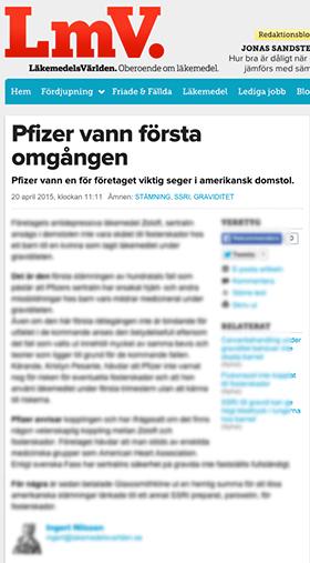 Ingert Nilsson LMV hyllar Pfizer