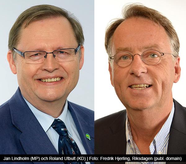 Jan Lindholm (MP) och Roland Utbult (KD) - Foto: Fredrik Hjerling - Riksdagen - Public domain