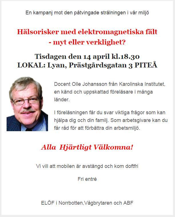 Olle Johansson föredrag 14 april 2015
