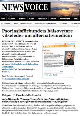 Psoriasisförbundet vilseleder om psoriasis