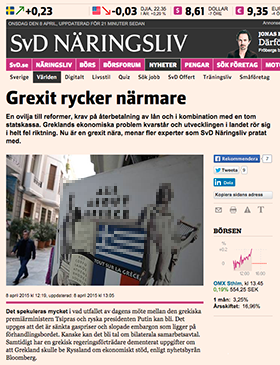 SvD om Grexit