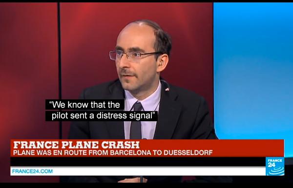 Germanwings distress signal - Photo France24.com