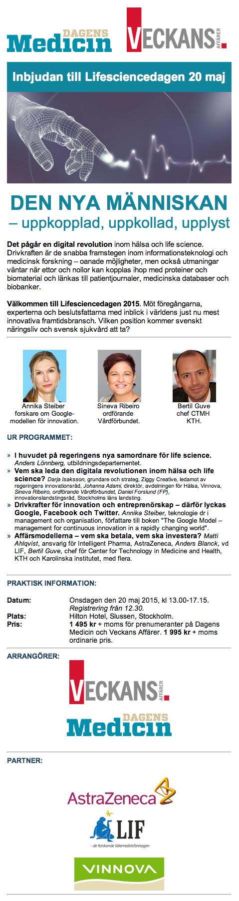 LifeScience-dagen 20 maj 2015