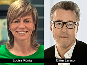 Louise König och Björn Larsson - Coop pressfoto
